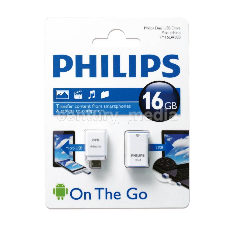 OTG Philips 16Gb - Century Media - Hitechmall Surabaya